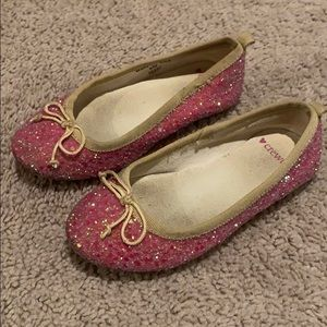 Crewcuts pink glitter shoes